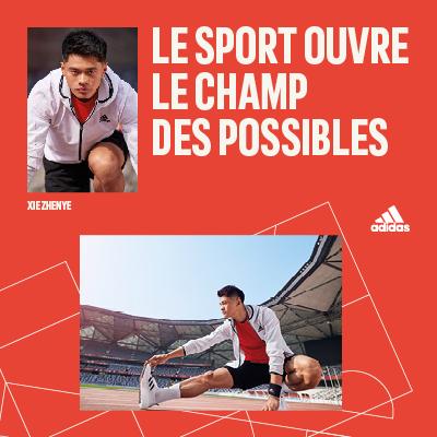 Le sport ouvre le champ des possibles chez Adidas !