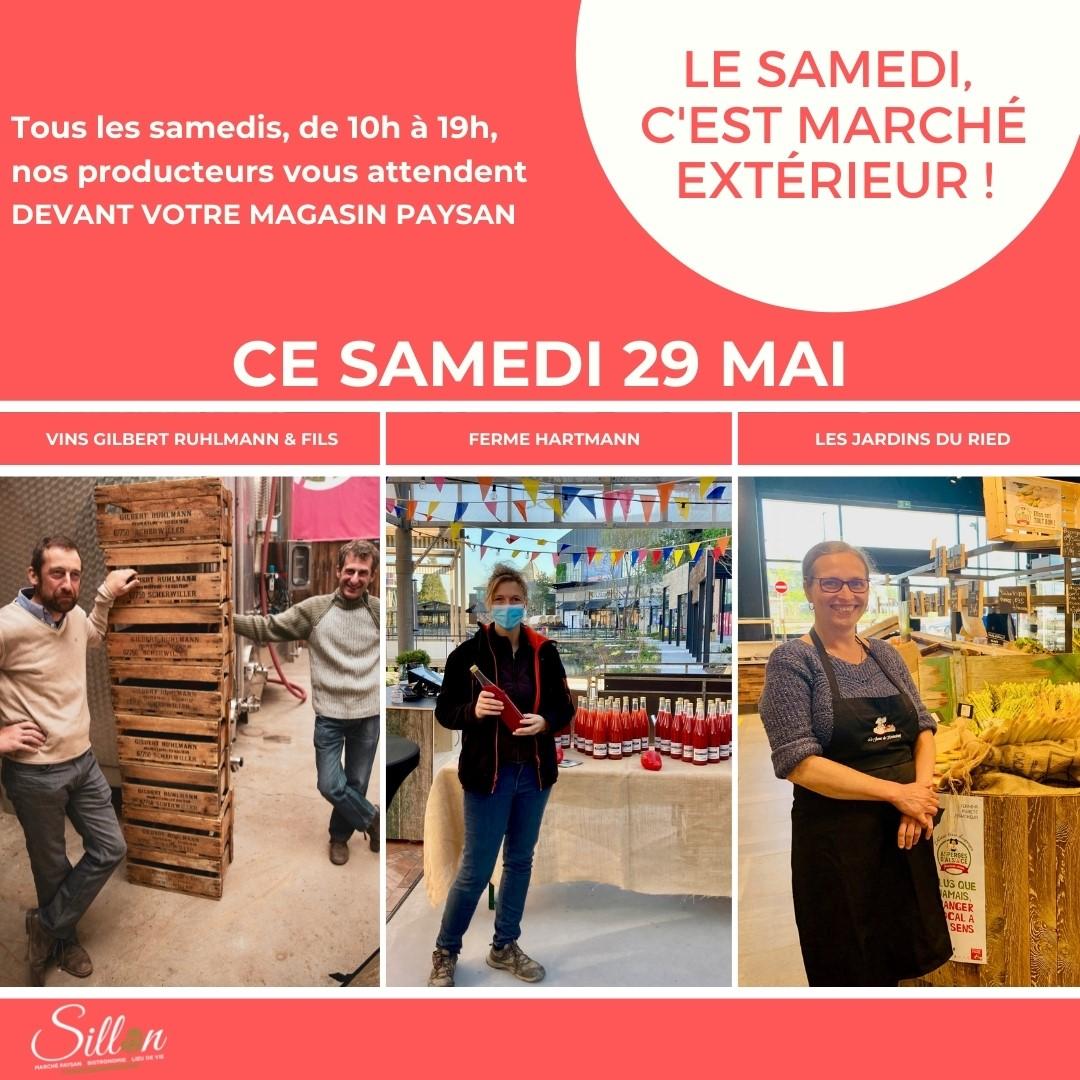 Le marché du samedi chez Sillon