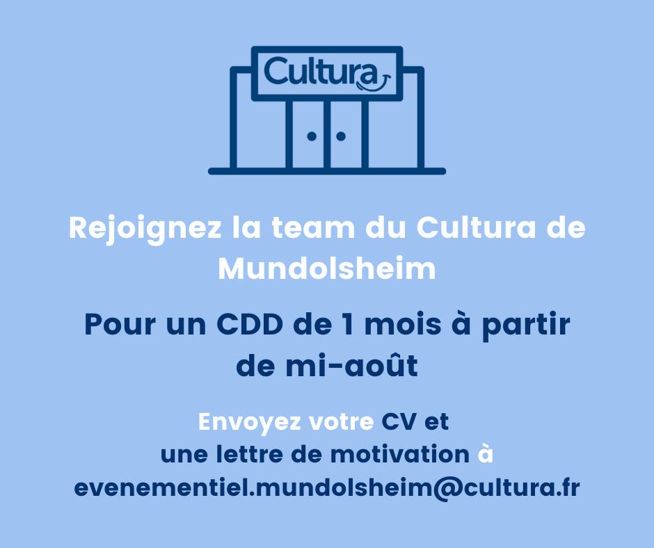 Cultura recrute !