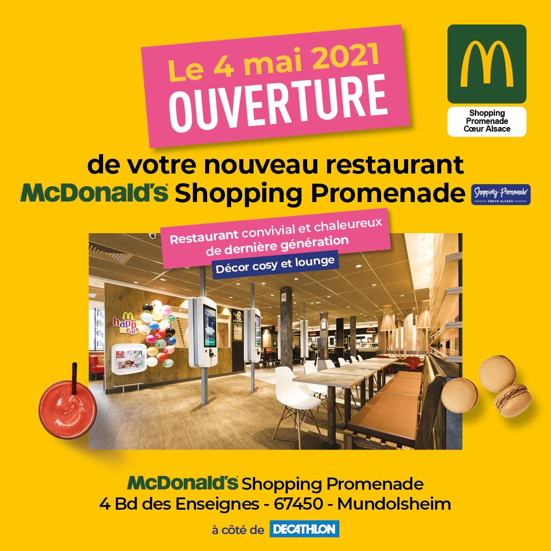 Ouverture McDonald's