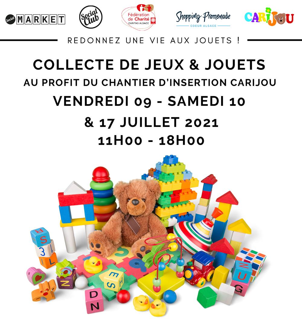 Collecte de jouets chez Carijou