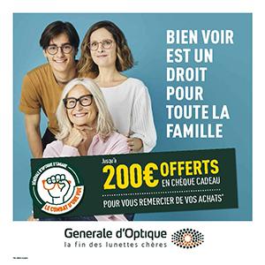 L'offre trio chez Générale d'Optique !